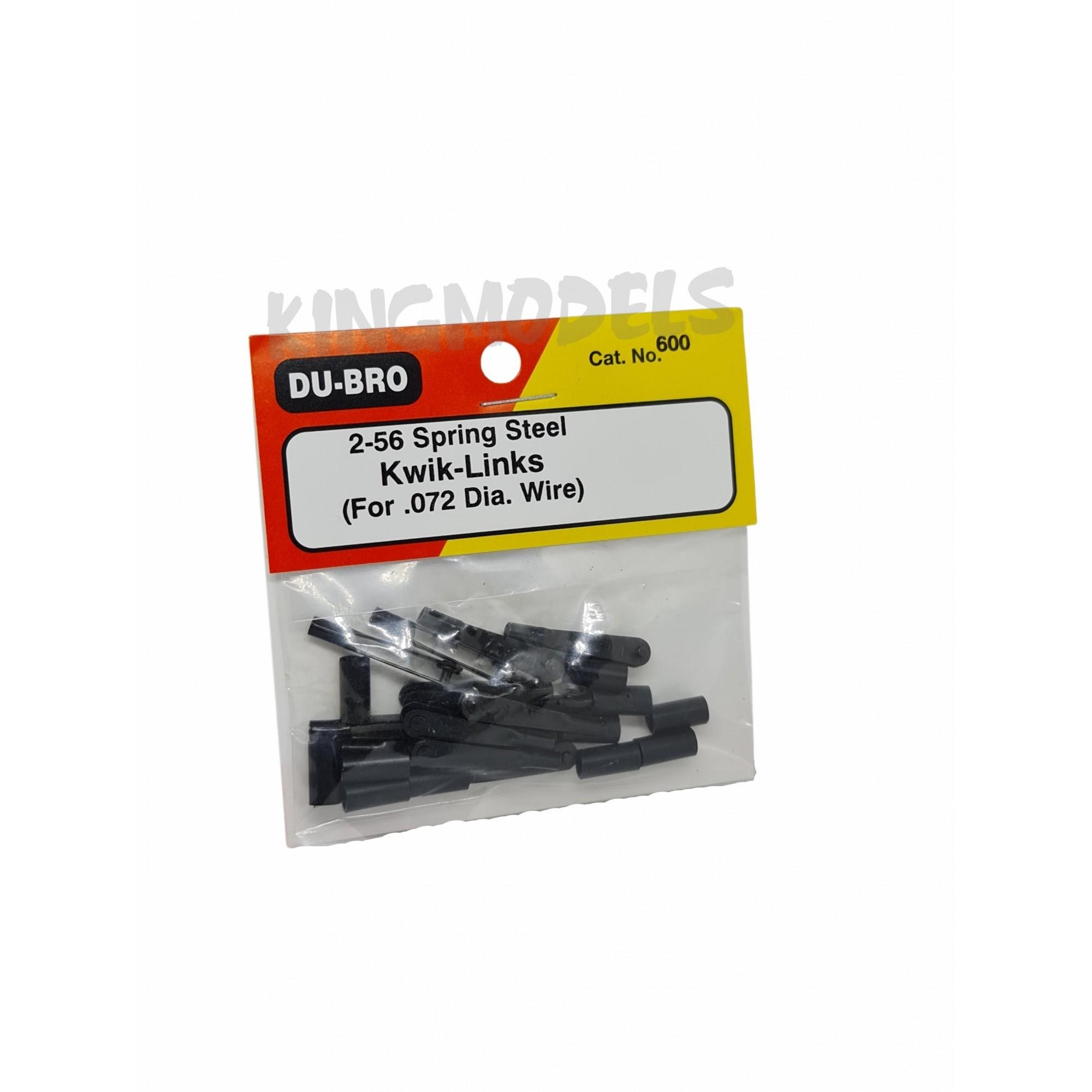 12pçs Push Rod / Clevis Dubro - Metal 2-56 C/ Rosca Dub600  - King Models
