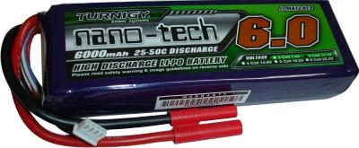 LiPo Turnigy Nano-Tech - 3s 11,1v-25/50 - 6000mah-Aero/Heli/Auto  - King Models