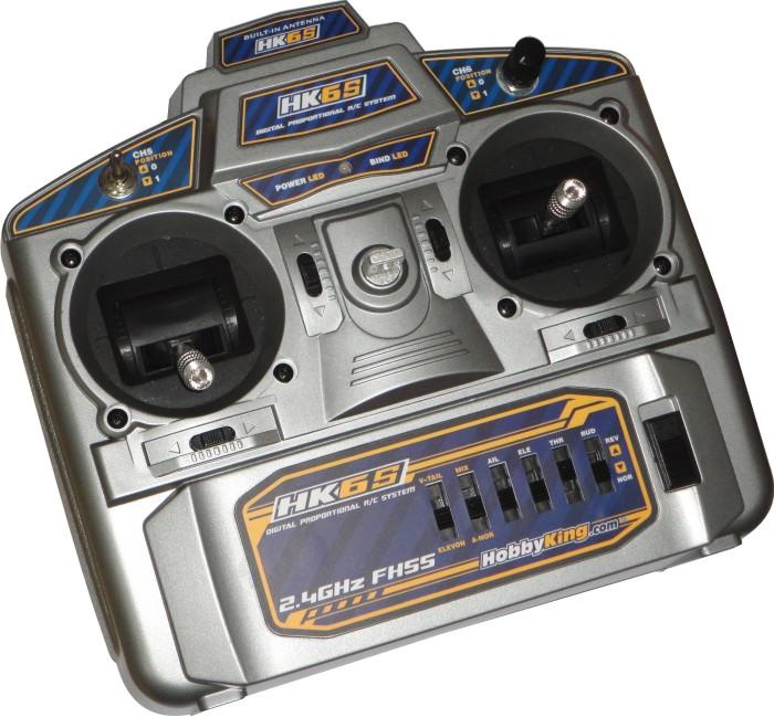 Rádio Hk 6 Canais 2.4ghz - Fhss - Com Função Mix!!!  - King Models