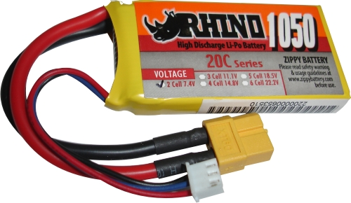 Lipo Zippy/rhino 2s 7,4v -20/30 - 1050mah  - King Models