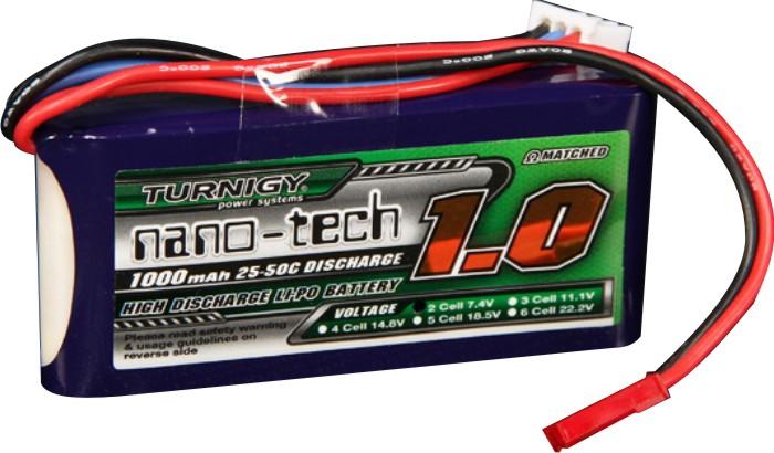 Lipo Tunrigy Nano Tech - 2s 7,4v-25/50c - 1000mah -confira!  - King Models