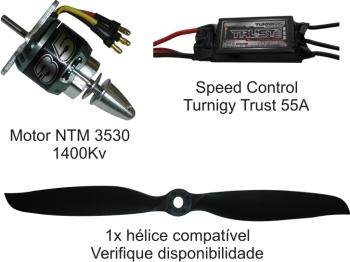 Combo Brushless Ntm 3530-1400kv - Aeros Até 1,300kg  - King Models