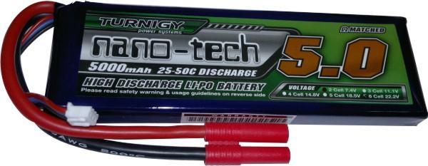 Lipo Nano Tech 2s 7,4v-25/50c -5000mah - Aero / Auto  - King Models