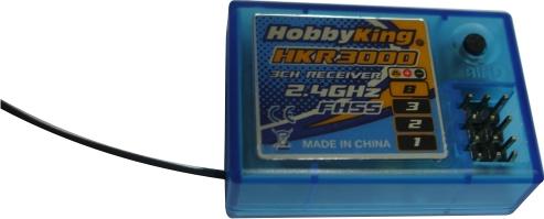 Receptor Hkr3000 3 Canais Para Rádios Pistola Hk300 E Hk310  - King Models