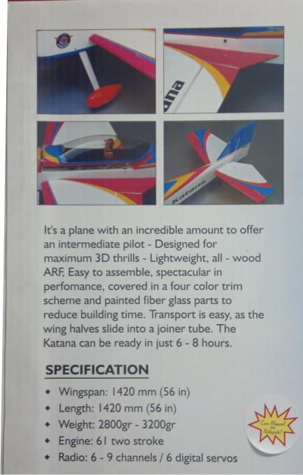 Aeromodelo A Combustão - Kit Arf -Phoenix Models - Katana 61  - King Models