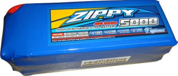 Lipo Zippy/Flightmax 5s 22,2v-30/40 - 5000mah - Aero/Auto  - King Models
