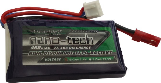 Lipo Turnigy Nano Tech - 2s 7,4v-25/40c - 460mah  - King Models