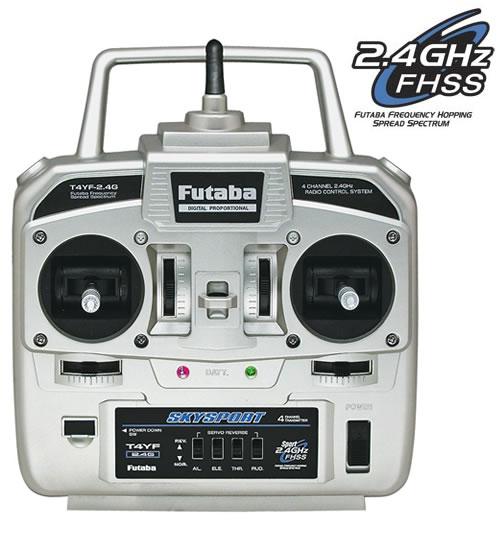 Rádio Futaba 4 canais 2.4ghz FHSS - T4YF - Homologado pela Anatel  - King Models