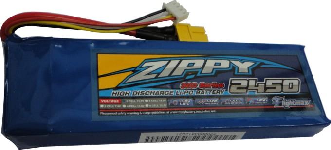 Lipo Zippy - 3s 11,1v-30/40 - 2450mah-aero/auto  - King Models