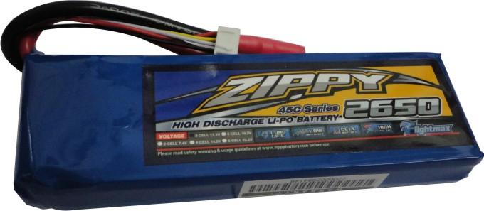 Lipo Zippy - 3s 11,1v-45/55 - 2650mah-aero/auto  - King Models