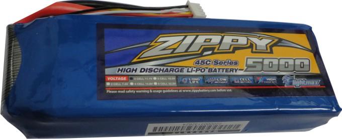 Lipo Zippy/Flightmax -  3s 11,1v-45/55 - 5000mah  - King Models