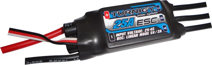Speed Control Turnigy 25a Com Bec Integrado + Conectores!!!  - King Models