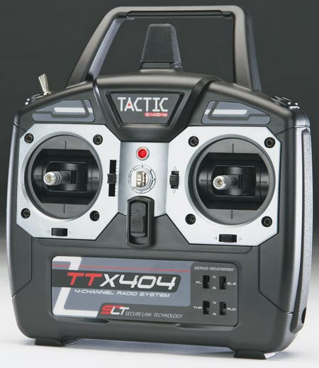 Rádio Tactic 4 canais 2.4GHz - com TX e RX  - King Models