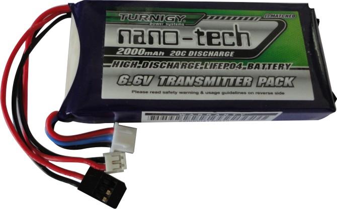 Bateria Life Nano Tech 2s - 6.6v - 2000mah Para Rádios  - King Models