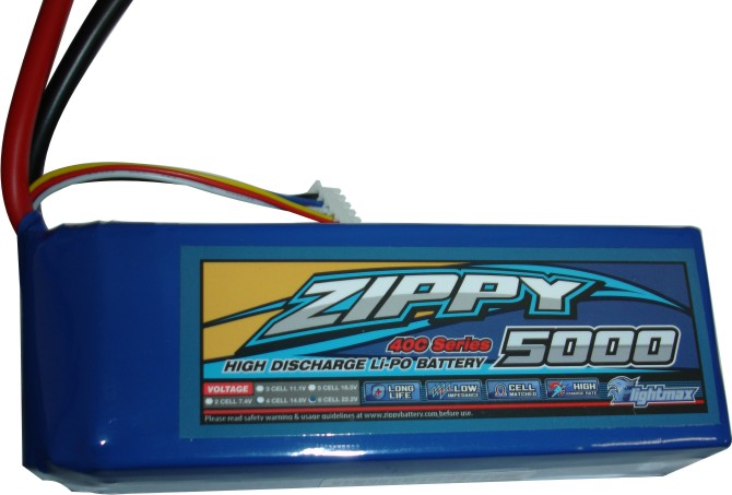 Lipo Zippy/Flightmax 6s 22,2v-40/50 - 5000mah - Aero / Heli Classe 600  - King Models