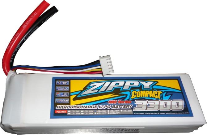 Lipo Zippy/Compact 4s 14,8-35/45 - 3300mah - Aero / Auto  - King Models