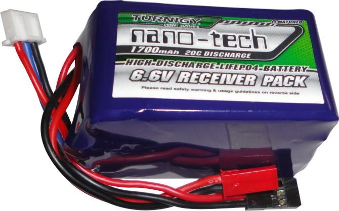 Bateria Life 2s - 6.6v - 1700mah Para Receptores De Rádio  - King Models
