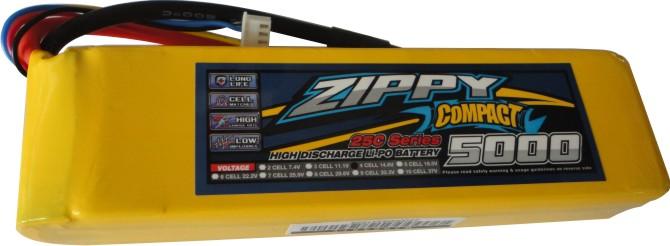 Lipo Zippy Compact -4s 14,8v-25/35c - 5000mah - Aero / Auto  - King Models
