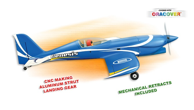 Aeromodelo A Combustão ou Elétrico - Kit Arf - Genesis - Phoenix Models  - King Models