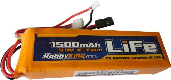 Bateria Life Para Transmissor - Mod.torre - 1500mah - 9.9v  - King Models