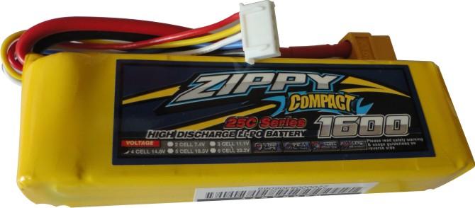 Lipo Zippy Compact -4s 14,8v-25/35c - 1600mah  - King Models
