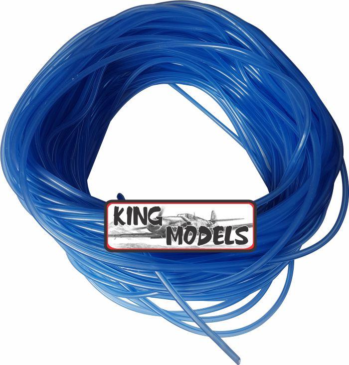 Mangueira De Silicone Para Motores A Combustão - Modelismo - Azul  - King Models
