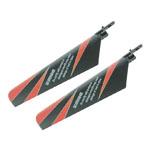 Peça Reposição Heli - Fp100/wl-v911 - Rotor Blades - Preto/Vermelho  - King Models