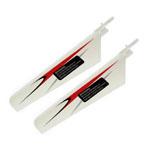 Peça Reposição Heli - Fp100/wl-v911 - Rotor Blades Bco/verm  - King Models