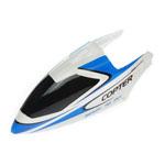 Peça Reposição Heli - Fp100/wl-v911 - Canopy Branco/azul  - King Models