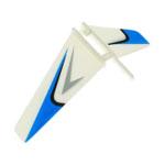 Peça Reposição Heli-fp100/wl-v911 - Estab.vertical Bco/azul  - King Models