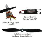Combo Turnigy 3530-1100kv - Aeros Entre 600 E 1,300kg