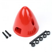 Spinner Dubro 2 1/2' - 63mm - Vermelho em Nylon - Made in USA