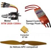 Combo Brushless Prop Drive 2826-1200kv - Aeros Até 850grs
