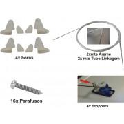Kit Linkagem Para Aeromodelos Elétricos Até 4 Canais