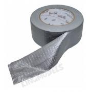 1xrl Fita Adesiva Tecido Estilo Silver Tape 48mmx50mts Prata