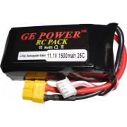 Bateria Lipo Gepower-3s 11,1v-25c-1500mah-aeros Treinadores