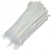 Abraçadeira de Nylon para travamento de fios 2.5mm x 150mm-Branca-50pçs