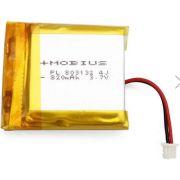 Bateria Lipo P/ Mobius Action Cam-3.7v-820mah-conexão Exata!