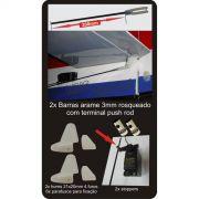 Kit Linkagem Para Asas Tipo Zagui 2 Canais-arame Push Rod!!!