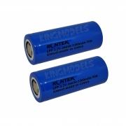 2x Bateria Life Rontek Cilíndrica 26650 3.2v 3300mah 2c
