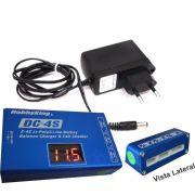 Conjunto Carregador Li-po 2a4s - Dc4s + Fonte12v-2a - Bivolt