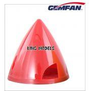 Spinner Nylon Gemfam 63mm Bi-pá Vermelho eixo 8mm
