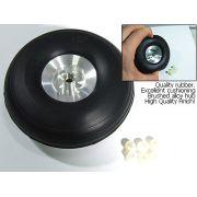 Roda De Borracha E Cubo Alumínio- Aero Glow/gasolina-44mm