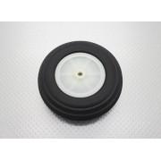 Roda De Borracha Extra-leve E Cubo Nylon - 95mm - Unidade