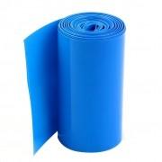 Tubo Termo-retrátil Azul Pvc 36mm(chato)-diam22mm- Bat 18650