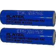 Bateria Life Rontek Cilíndrica 18650 -3.2v-1500mah-8c - 2pçs