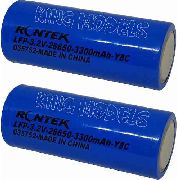 Bateria Life Rontek Cilíndrica 26650 -3.2v-3300mah-8c - 2pçs