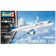 Revell - Embraer 190 - Lufthansa - Escala 1:144 - Level 3