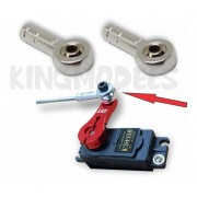 4x Clevis Ball Link Full Metal + Barra Roscada 300mm - Top!!