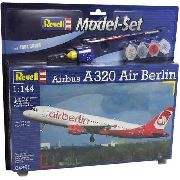Revell - Airbus A320 Airberlin - Esc. 1:144 - Nivel 3 - Kit Completo